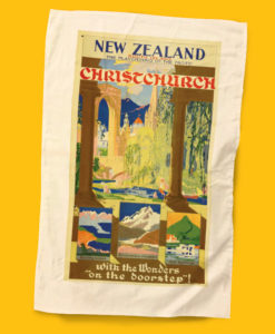 Christchurch Tea Towel - NZ Rail