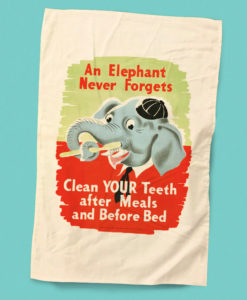An Elephant Never Forgets Vintage Health Poster