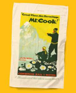 Mt Cook Tea Towel - NZ Rail