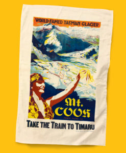 Mt Cook Timaru Tea Towel Tasman Glacier