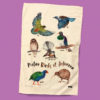 Native birds of New Zealand Tea Towel