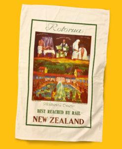Rotorua Tea Towel - NZ Rail
