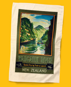 Wanganui River Tea Towel - NZ Rail
