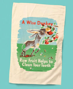 Wise Donkey Vintage Health Poster